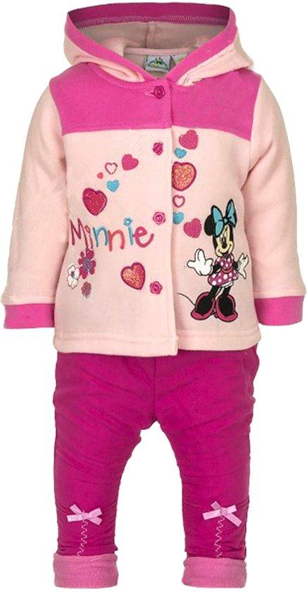 Minnie Mouse fleece set maat 68 (3-6 mnd) - Roze