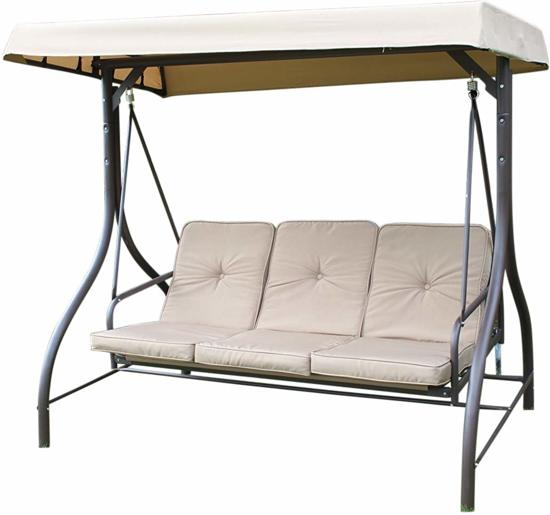 Zware kwaliteit Luxe schommelbank - bed inclusief dikke kussens - 3 personen