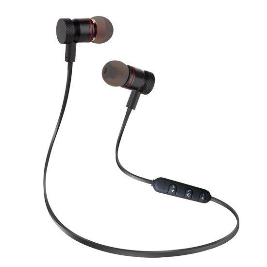 Bluetooth Draadloze Oortjes / Sport Oordopjes met Microfoon - Geschikt voor Hardloop & Sport (Zwart)
