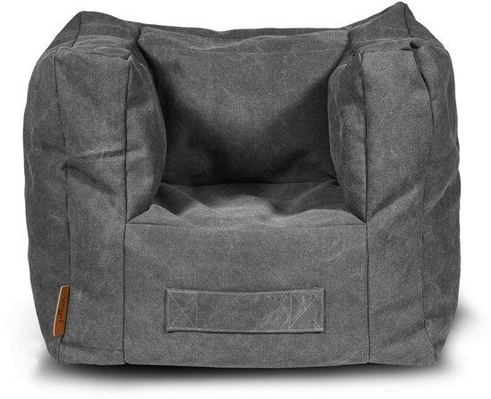 Jollein Stonewashed - Kinderstoel/Beanbag - Canvas Grijs