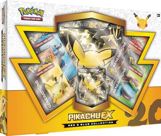 Afbeelding van het spel Pokemon kaarten TCG - Pikachu EX - 20th Anniversary Red & Blue