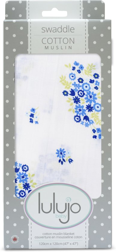 Lulujo swaddle 120x120 - Vintage bouquet