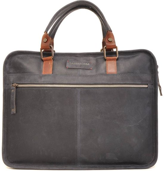 07 826 Navy Barbarossa 129 Laptoptas Leren WnZxIa