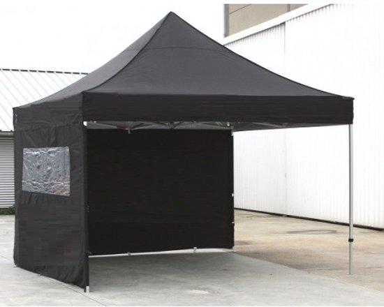 Partytent Easy Up Aluminium 3 x 3 meter met zijwanden in Zwart