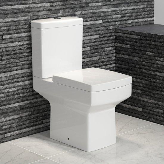 Toilet Duoblok Aanbieding.Bol Com Belfort Staand Dual Flush Toilet Compleet Met