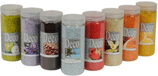 gekleurd decoratie zand met geur licht paars