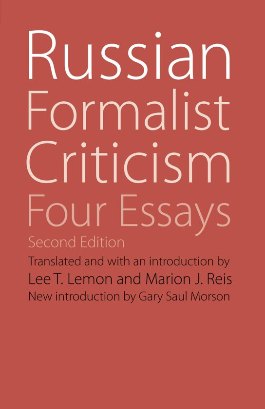 russian formalism four essays