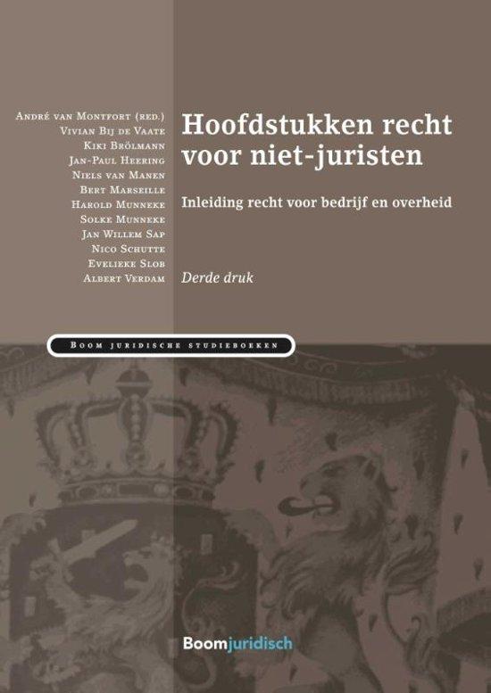 Boom Juridische studieboeken Hoofdstukken recht voor niet juristen