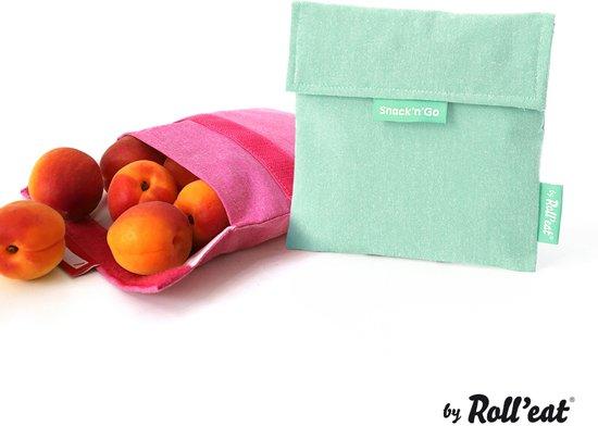 Roll'Eat Snack'n'Go Herbruikbaar Boterhamzakje - Eco Mint
