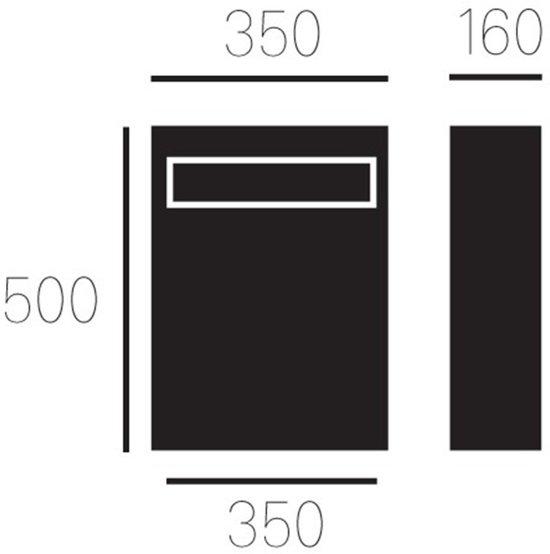 Allux Brievenbus Allux 5000 - Zwart