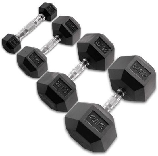 Body-Solid Hexagon Rubber Dumbbell 2 x 27.5 KG