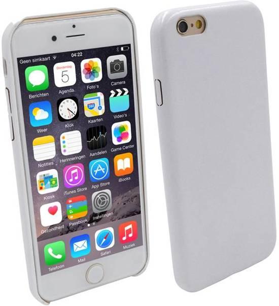 iParts4u Ultra dunne Vinyl Lederen Backcover Case iPhone 6 Wit in IJzendijke