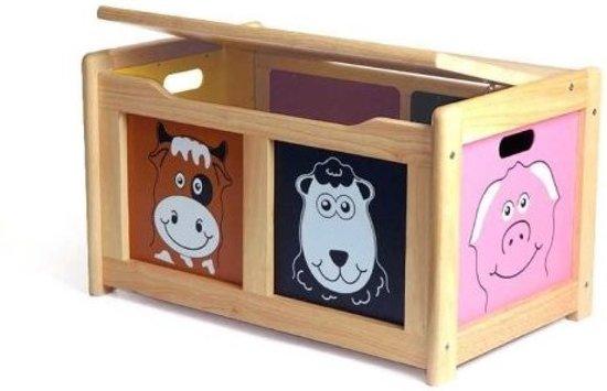 Pintoy speelgoedkist boerderijdieren