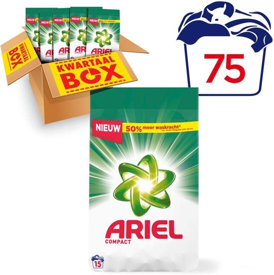 Ariel Compact Regular - Kwartaalbox 75 Wasbeurten - Waspoeder