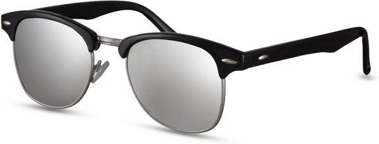651d317ab98f27 Cheapass Zonnebrillen - Clubmaster zonnebril - Goedkope zonnebril -  Zilveren spiegelglazen