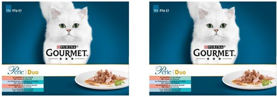 Gourmet Perle 12X85G Les Duos De La Mer per 2 verpakkingen