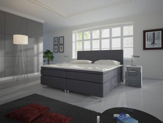 boxspring sona grijs 160x200 cm actie. Black Bedroom Furniture Sets. Home Design Ideas