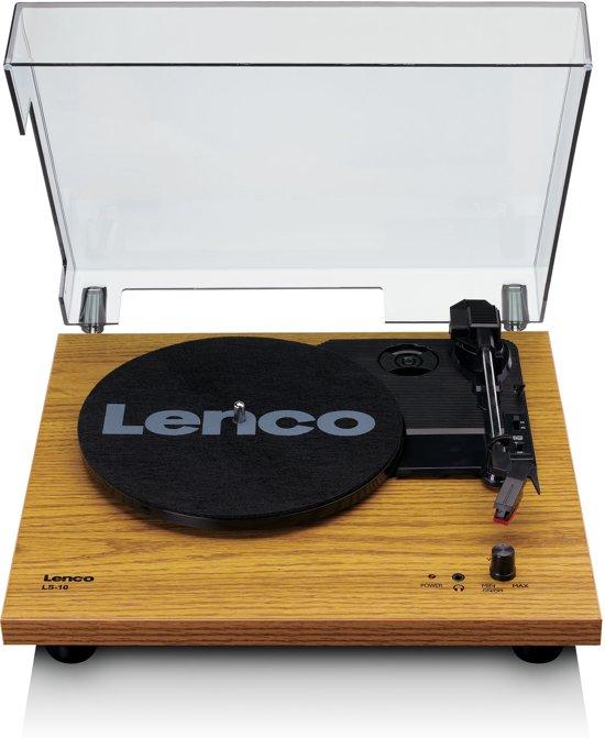 Lenco LS-10 - Platenspeler met ingebouwde speakers - Hout
