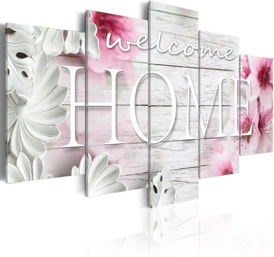 Schilderij - Zomer in Huis II , Welcome Home , 5 luik