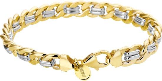 Zilgold  Collection Armband Geslepen Gourmet - Bicolor Goud;zilver