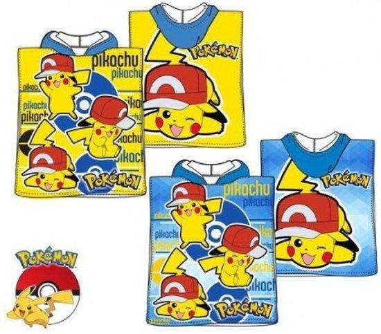 Pokemon Pikachu badponcho 50x100 cm Geel - 3-4 jaar