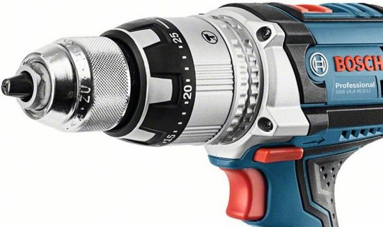 Bosch GSB 14,4 VE-2-LI Professional Blau Akku-Schlagbohrschrauber mit L-BOXX 136