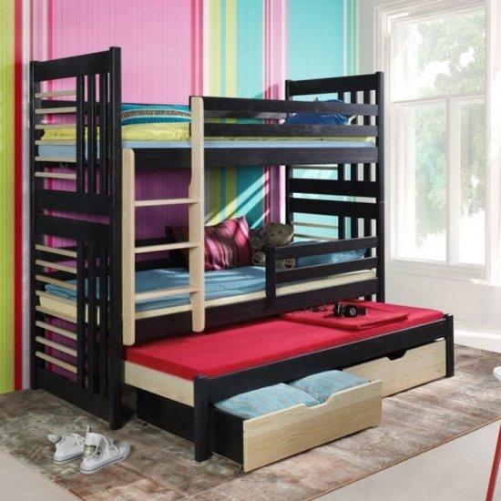 h6 tamara voor 3 personen stapelbed 90x200 cm 3 matrassen gratis. Black Bedroom Furniture Sets. Home Design Ideas