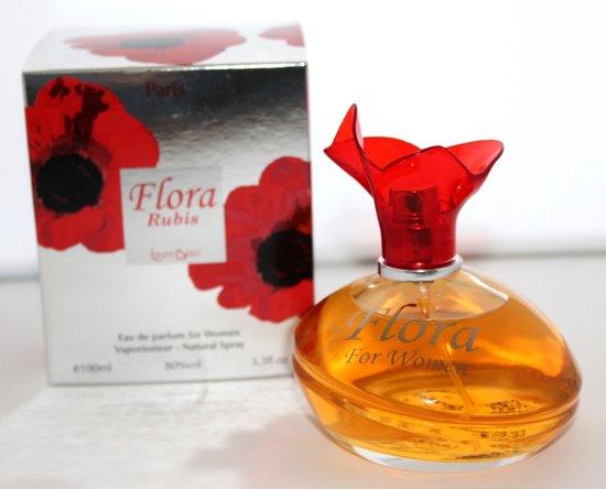CADEAU TOPPER  1+1 GRATIS  Flora Rubis Dames Parfum (Bij deze parfum, krijgt u een CC dames Eau de Parfum 100 ml GRATIS)