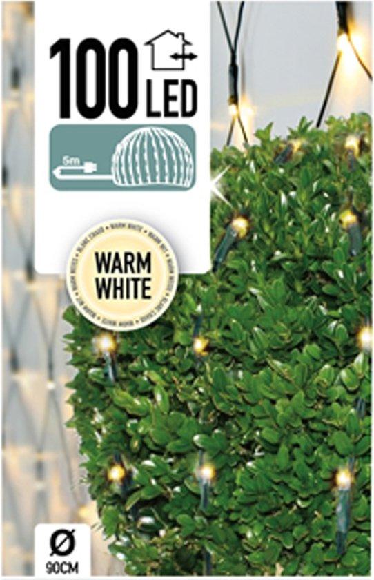 bol.com | Buxus Netverlichting 100 LED\'s warm wit