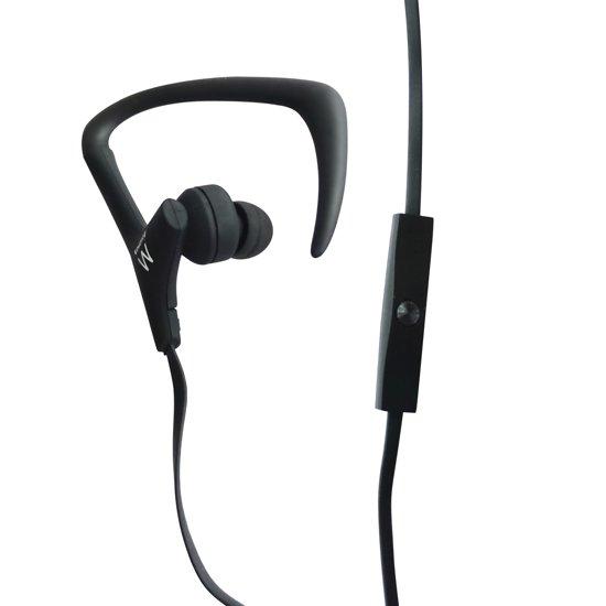 Ewent EW3559 oorhaak Stereofonisch Bedraad Zwart, Wit mobiele hoofdtelefoon