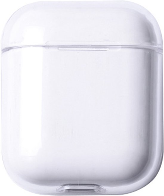 KELERINO. Plastic Hard Case Cover Hoesje voor Apple Airpods 1 & 2 - Transparant