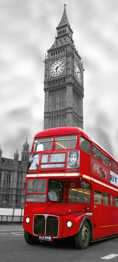Fotobehang, Deurposter, Londen, Cities, 90 x 200 cm. Art. 97517
