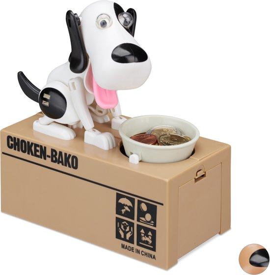 Relaxdays Spaarpot Hond Elektrisch Kinderen Vanaf 6 Jaar Spaarvarken Cadeau Deco B
