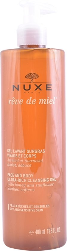 Nuxe Reve De Miel Face And Body Cleansing Gel 400 ml