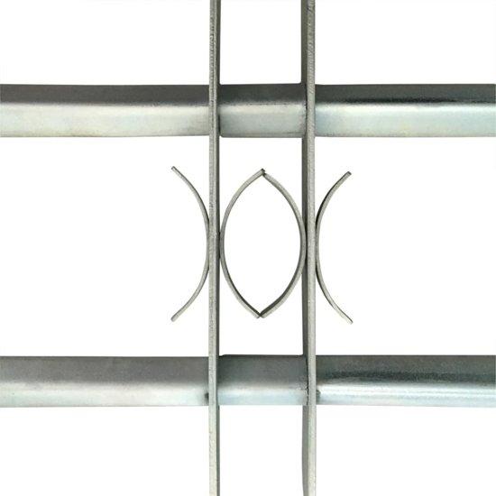 vidaXL Raambeveiliging verstelbare tralies met twee dwarsbalken 700-1050 mm