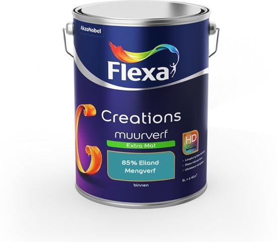Flexa Creations Muurverf - Extra Mat - Mengkleuren Collectie - 85% Eiland  - 5 liter