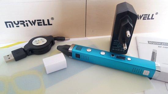 Set: 3D Pen MyRiwell Professional, 12x10m PLA+ CLIPS+ 3D-PAD+ ADAPTER