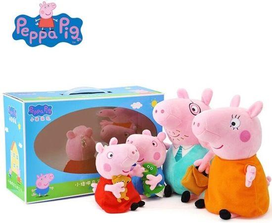 Peppa big knuffel pakket - Ideaal cadeau -  Het complete Peppa pig gezin, 4 knuffels