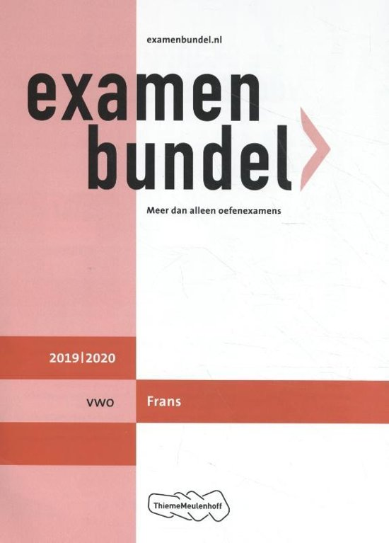 Afbeelding van Examenbundel vwo Frans 2019/2020