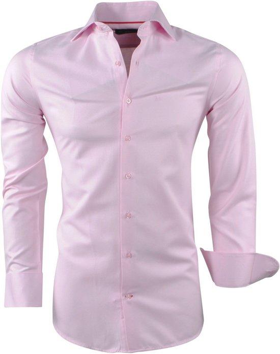 Overhemd Mannen.Bol Com Montazinni Heren Overhemd Oxford Licht Roze