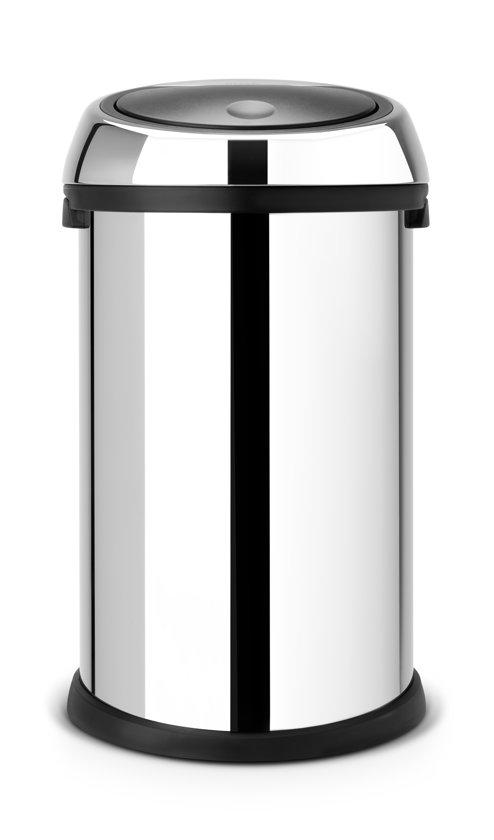 Brabantia Touch Bin Afvalverzamelaar 30 Liter.Afvalverzamelaar 50 Liter Touch Bin Brilliant Steel