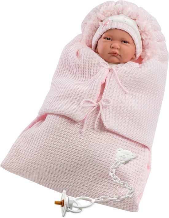 Llorens softbody babypop 40 cm met geluid kleding en zachte slaapzak