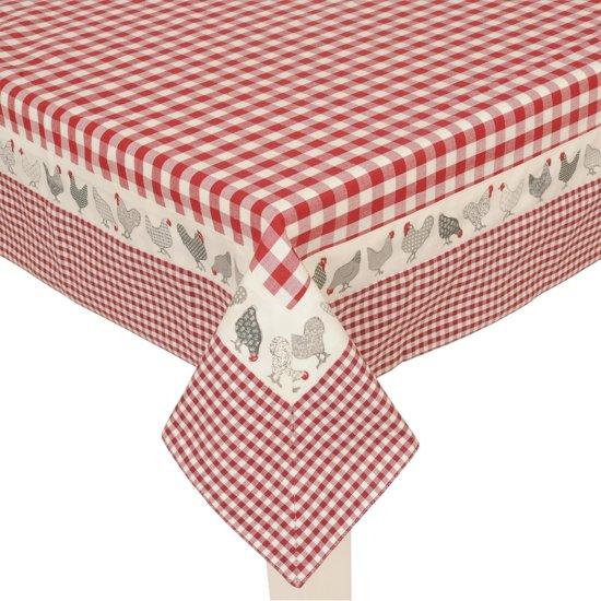 clayre eef 150x150 tafelkleed rood. Black Bedroom Furniture Sets. Home Design Ideas