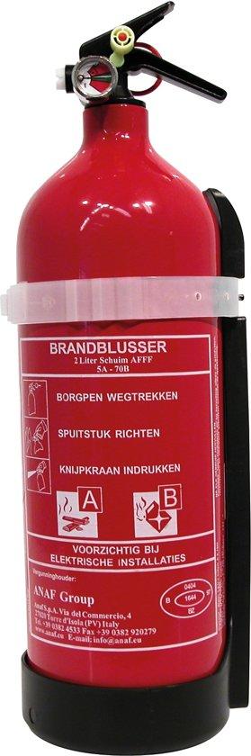 Brandblusser klasse ABF 2 Liter Schuimblusser met muurbeugel