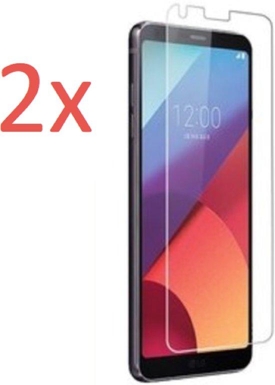 2 Stuks LG G6 - Tempered Glass Screenprotector Transparant 2.5D 9H (Gehard Glas Screen Protector) - (0.3mm) (Duo Pack)