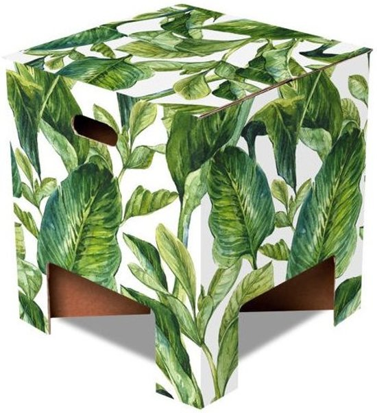 Dutch design Kruk - Green Leaves