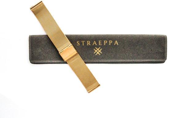 Gold Slim line 20mm - Horlogeband Goud - Milanese strap - Stainless steel + opening tool