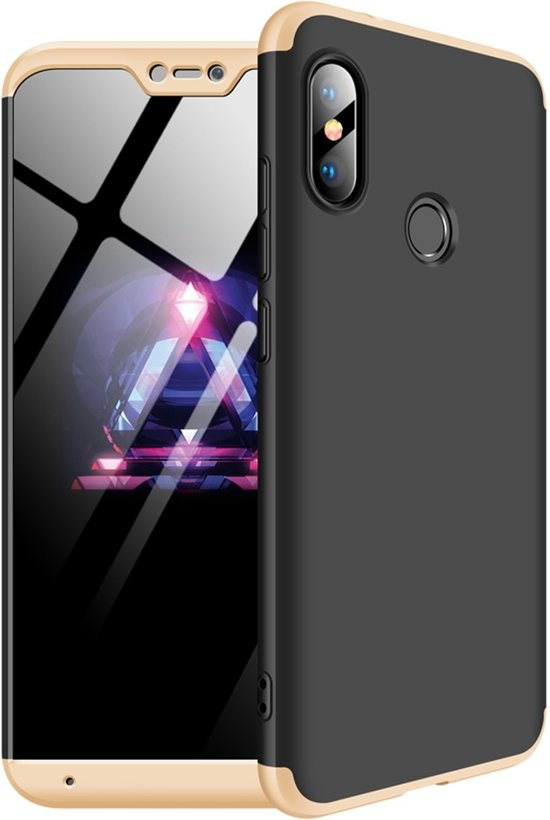 a9c83a93861 Mobigear 360 Hardcase Zwart / Goud Xiaomi Mi A2 Lite