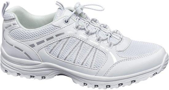 VanHaren Landrover sneakers met opengewerkte details wit