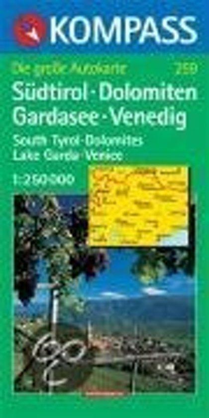 Südtirol - Dolomiten - Gardasee - Venedig 1 : 250 000